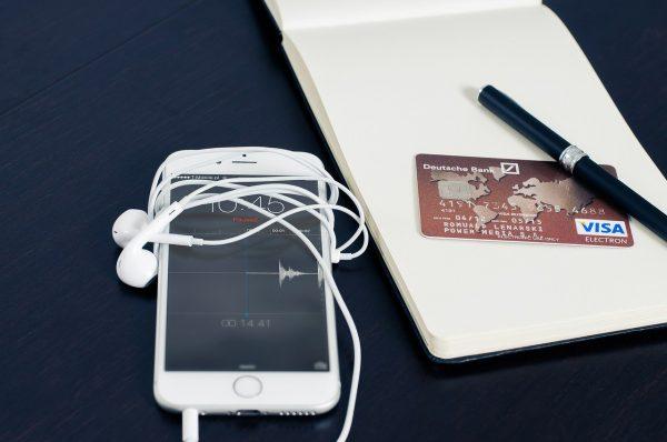 iphone, visa, business