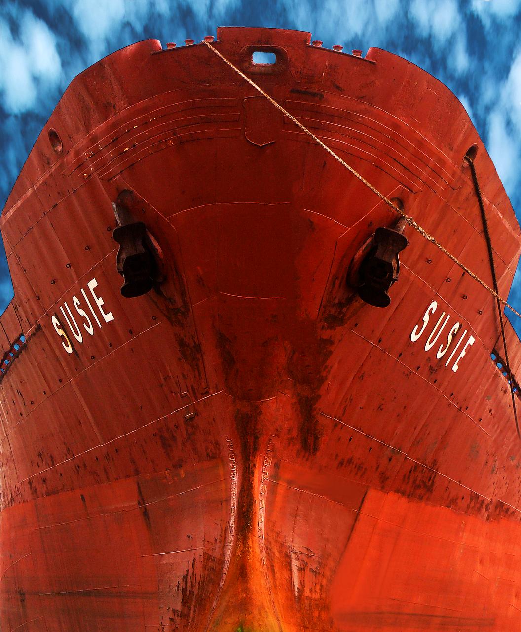 ship, port, city
