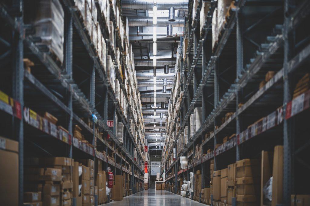 store, stacks, shelves